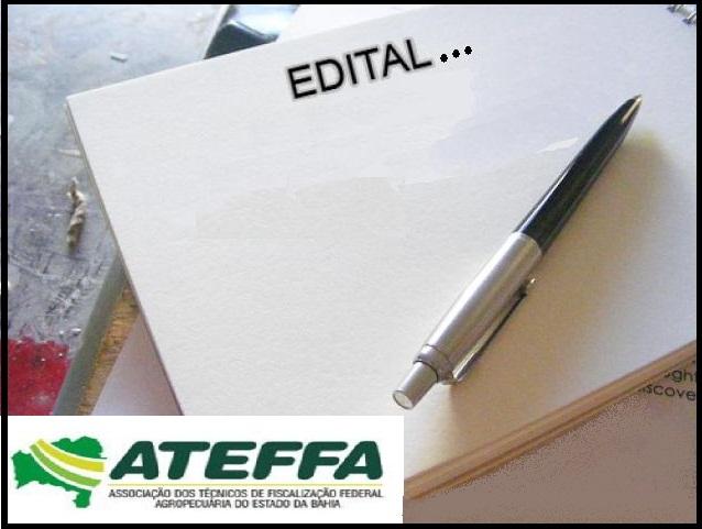 ATEFFA- EDITAL PERSONALISADO